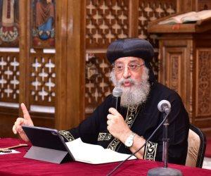 البابا تواضروس يحذر من كورونا: ليس من الحكمة إغلاق البلد ولكن رجاء الحرص