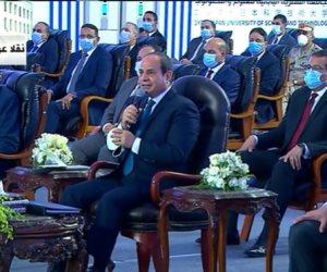 الرئيس السيسى للشباب: الدولة مستعدة للتدريب والتأهيل وعليكم تجهيز أنفسكم