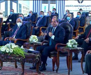 الرئيس السيسي يتفقد الجامعة المصرية اليابانية فى مدينة برج العرب