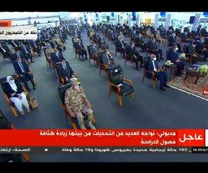 """الرئيس السيسي يشاهد فيلما تسجيليا عن مبادرة """"مستقبلنا رقمى"""""""