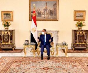 """السيسى يتلقى دعوة من """"سلفا كير"""" للمشاركة فى مراسم التوقيع النهائى على اتفاق السلام بين الحكومة السودانية الانتقالية والحركات المسلحة"""