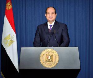 الرئيس السيسي: مصر عازمة على دعم الليبيين لتخليص بلدهم من التنظيمات الإرهابية