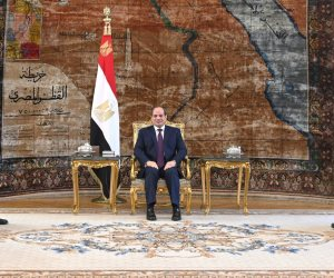 الرئيس السيسي يلتقى عقيلة صالح والمشير حفتر بقصر الاتحادية