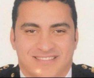 جنازة عسكرية لشهيد الواجب الوطنى فى حادث سجن طرة بمسقط رأسه بالمنوفية