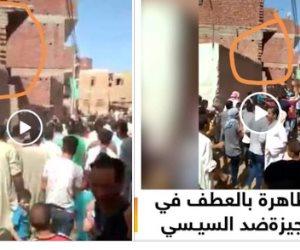 المصريون فضحوهم.. المقاول الهارب ينشر لقطة لمظاهرة بالجيزة ومكملين تبثها من المنيا