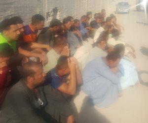 الأجهزة الأمنية تلقي القبض على مجموعة من الأشخاص حاولوا قطع الطريق العام بتحريض من الإخوان
