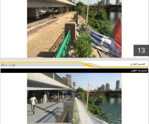بدء تطوير شارع النيل بطول 6 كيلو من ميدان الجيزة وحتى نفق الجلاء.. صور