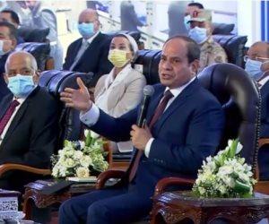 السيسي: «بيقولوا مصر عاوزة تبقى أوبك للغاز في المنطقة.. مش هيسيبونا لكن ربنا موجود»