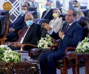 السيسى: أى إزالة تتم من أجل المنفعة العامة ننقل مالكيها لمناطق أكثر تطورا