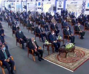 السيسى: مجمع مسطرد توقف 10 سنوات بسبب أحداث 2011 وحرمنا من مكتسبات اقتصادية