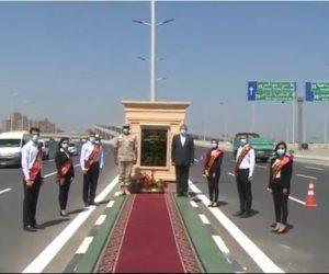 الرئيس السيسى يفتتح كوبرى تقاطع الطريق الدائرى مع محور شبرا بنها