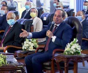 الرئيس السيسى: ندعم القطاع الخاص.. وسعداء بمشاركتهم فى بناء مصر