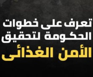 ماذا فعلت الحكومة لتحقيق الأمن الغذائي للمصريين؟ (إنفوجراف)