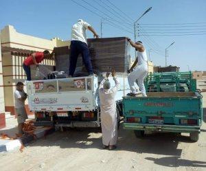 فرش 25 منزلاً بدوياً لأهالي مركز نخل (صور)