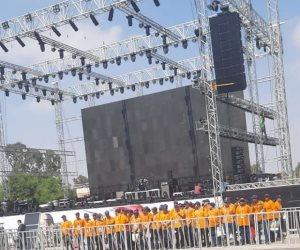 تدشين عدد من المنصات في مدينة نصر للاحتفال بذكرى نصر أكتوبر العظيم (صور)