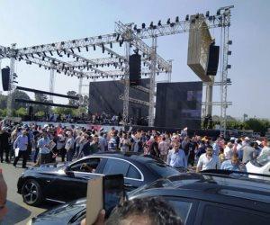 إقبال كبير على المنصة بمدينة نصر للاحتفال بذكرى نصر أكتوبر ودعم الدولة و الرئيس (فيديو وصور)