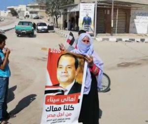 الشيخ زويد ترفع صور الرئيس في احتفالات ذكرى نصر أكتوبر ودعم الدولة (فيديو وصور)