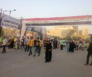 الفيوم تحتفل بيوم النصر.. حشود وتجمعات المواطنين لدعم الدولة والرئيس (صور)