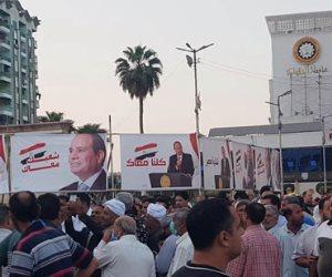 ميدان الثورة في المنصورة يمتلئ عن آخره.. الآلاف يحتفلون بنصر أكتوبر ودعم الدولة والرئيس (صور)