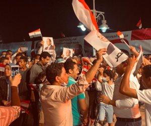 بهتافات ولافتات في حب مصر.. أهالي البحر الأحمر يحتفلون بنصر أكتوبر ودعم الدولة والرئيس (صور)