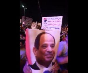 الآلاف يشاركون حزب حماة الوطن في الاحتفال بنصر أكتوبر ودعم الدولة والرئيس (فيديو)