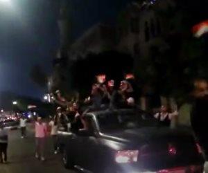 احتفالات حاشدة بميدان تريومف بذكرى أكتوبر ودعم الدولة والرئيس (فيديو)