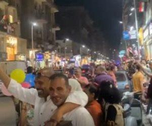 احتفالات بميدان طلعت حرب بذكرى نصر أكتوبر ودعمًا للدولة والرئيس (صور)