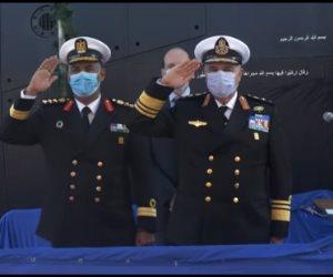 شاهد.. مراسم استلام وتدشين الغواصة المصرية الرابعة طراز (209/ 1400)