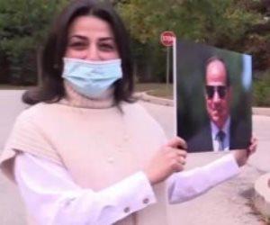 الجالية المصرية بكندا تحتفل بذكرى نصر أكتوبر بأعلام مصر وصور السيسي (فيديو)