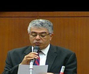 عماد الدين حسين يؤدى اليمين الدستورية بالجلسة الافتتاحية لمجلس الشيوخ