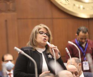 فيبي فوزي أول سيدة تتولى منصب وكيل مجلس الشيوخ تتحدث لـ«صوت الأمة»: انتخابي تطبيق حقيقي لتمكين المرأة.. ولولا دعم الرئيس ما كنت هنا