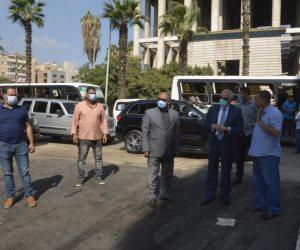 رصف وتطوير شارع فاطمة رشدي بالعمرانية