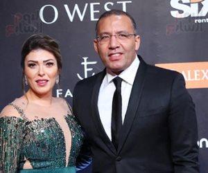 خالد صلاح وشيريهان أبو الحسن على السجادة الحمراء فى افتتاح مهرجان الجونة