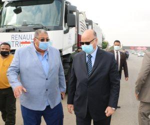 شاهد.. محافظ القاهرة يتفقد انتشار فرق الطوارئ استعدادا لموسم سقوط الأمطار (صور)