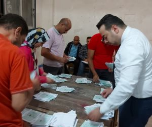"""أنصار مرشحى مستقبل وطن والشعب الجمهورى """"محمد عبد الحميد وأحمد عاشور"""" يحتفلان بفوزهما بمقعدى العمرانية والطالبية"""