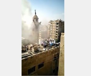 شاهد.. هروب تلاميذ معهد أزهري في صقر قريش بعد اندلاع حريق بمسجد