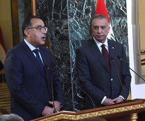 رئيس وزراء العراق: نعمل على الاستفادة من التجربة المصرية للنهوض