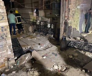 """انفجار ماسورة الغاز في عقار """"دار السلام"""" ناتج عن عيب فني.. وإصابة البواب وأحد المارة"""