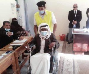 كبار السن وذوي الاحتياجات الخاصة كلمة السر في انتخابات النواب بوسط سيناء (صور)