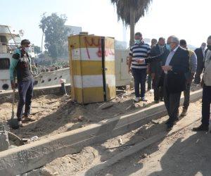 محافظ الجيزة يتابع ميدانياً أعمال التطوير بعدداً من المحاور المرورية