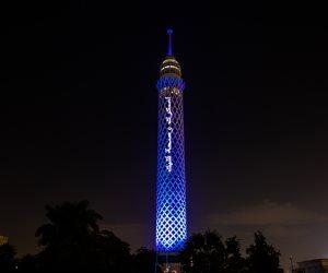 """في اليوم العالمي للسكر.. إضاءة برج القاهرة ضمن فعاليات حملة """"لسكرك وصحة قلبك"""""""