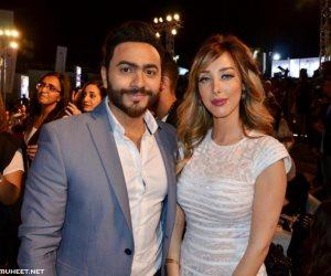 رسالة آل الشيخ والفنانة أحلام بعد صلح تامر حسني وزوجته بسمة بوسيل