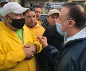 محافظ الإسكندرية: وفاة طفلين في عقار الجمرك والبحث عن 2 آخرين تحت الأنقاض