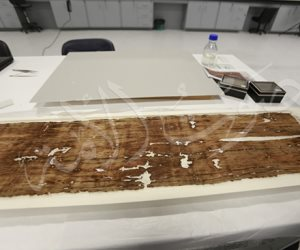 أول صور لـ«اسكارف» توت عنخ آمون بعد 100 عام من اكتشاف مقبرته