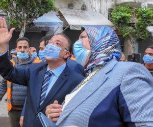 محافظ الإسكندرية: الرئيس وجه بتعويض أهالي العقار المائل بشقق في بشاير الخير 3