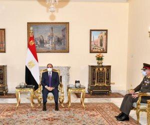 السيسى يبحث مع وزير الدفاع العراقي التعاون الثنائي العسكري بين مصر والعراق