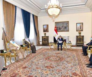 السيسي يتسلم رسالة من أمير الكويت.. ويؤكد ارتباط أمن الخليج بالأمن القومى المصري