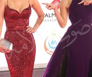 إلهام شاهين وميس حمدان ومي سليم على السجادة الحمراء في افتتاح مهرجان القاهرة