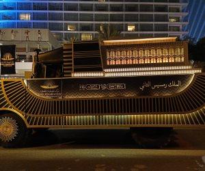بروفة نقل المومياوات الملكية من التحرير إلى المتحف القومي للحضارة (فيديو)