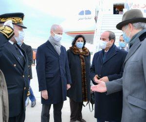 شاهد.. لحظة وصول الرئيس السيسي إلى العاصمة الفرنسية باريس